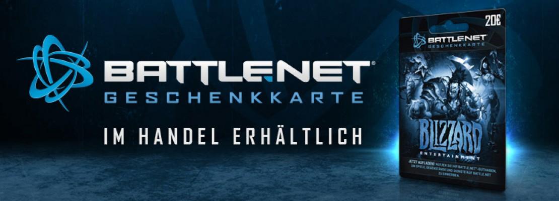 Battle.Net Geschenkkarte nun auch in Europa verfügbar