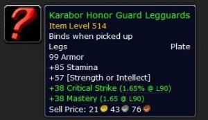 Karabor Honor Guard Legguards Green