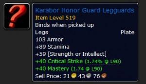 Karabor Honor Guard Legguards  Blue