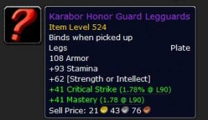 Karabor Honor Guard Legguards Epic
