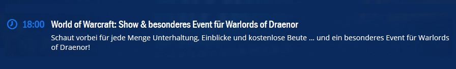 WoD Event Gamescom