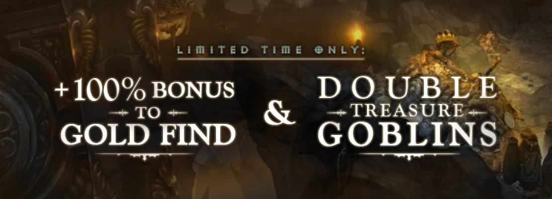 Diablo 3: 100% mehr Gold und Schatzgoblins
