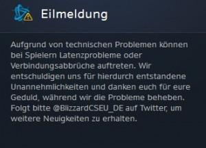 Probleme WoW Server Sep. 14