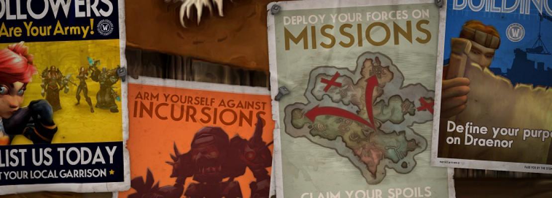 WoD: Plakate zur Garnison in Draenor