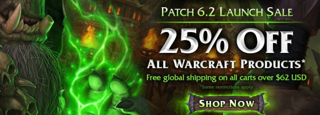 WoW: Der Patch 6.2 Launch Sale im Gear Shop von Blizzard