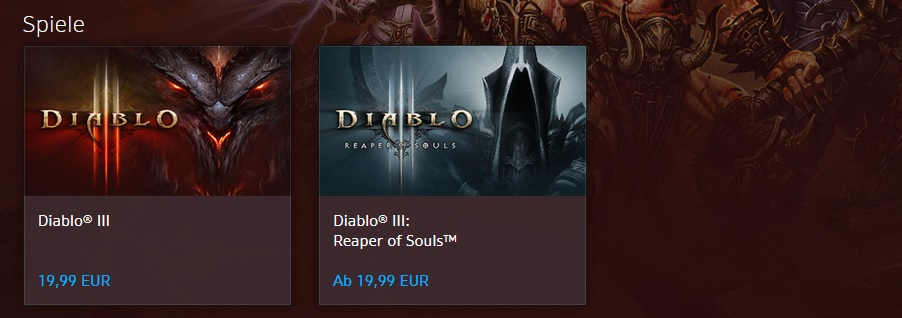 EU Battle.Net Shop Diablo