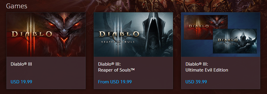 US Battle.Net Shop Diablo