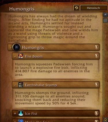 Humongris Weltboss Legion Alpha 2