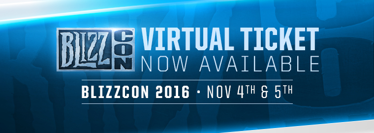 Virtuelle Tickets Blizzcon 2016 Bild 2