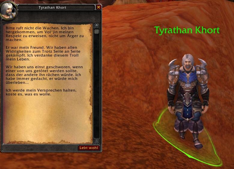 Tyrathan Khort Durotar Legion Lore