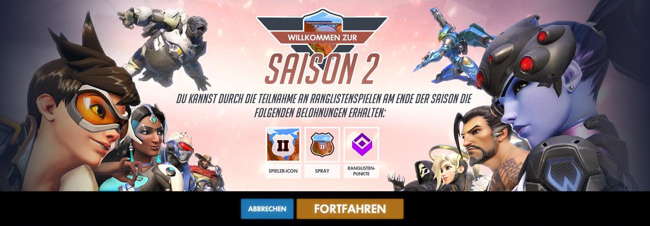 Saison 2 Bildschirm Overwatch