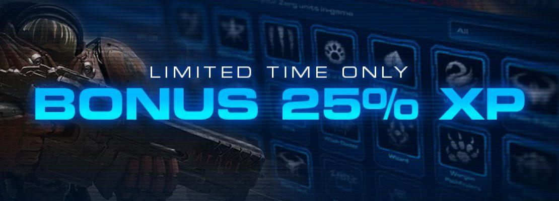 SC2: Ein Event gewährt 25% Bonuserfahrung