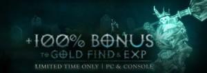Gold EXP Boni Diablo 3