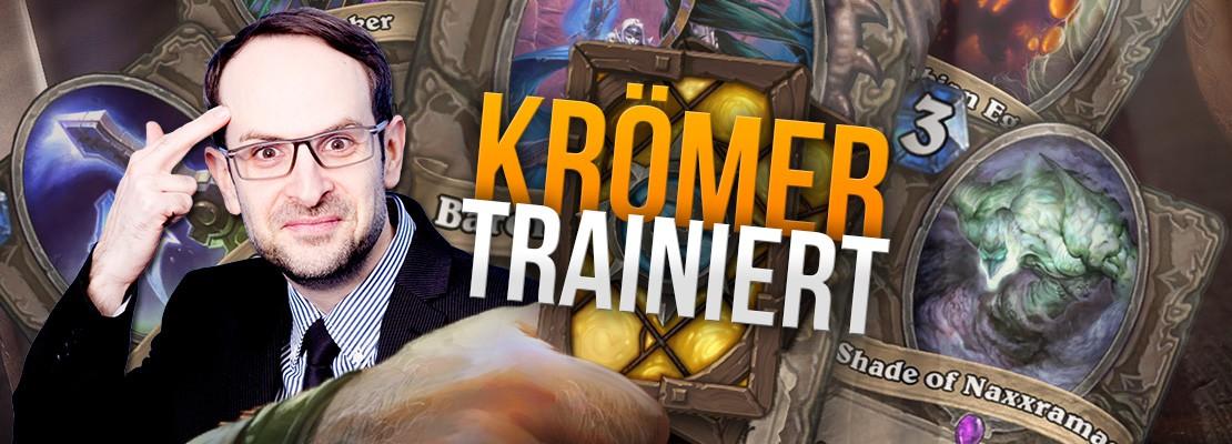 Heute Abend: Krömer trainiert Hearthstone