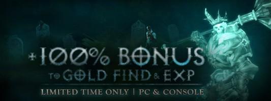 Diablo 3: 100 % Goldfund- und Erfahrungsbonus