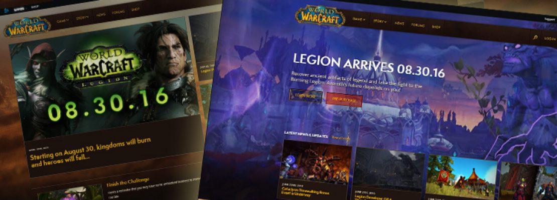 Das neue Design der WoW Communityseite ist aktiv