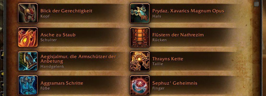 Patch 7.2.5: Die Legendaries starten erst ab der nächsten Woche mit Itemlevel 970