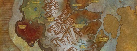 BfA: Die Karten von Kul Tiras und Zandalar