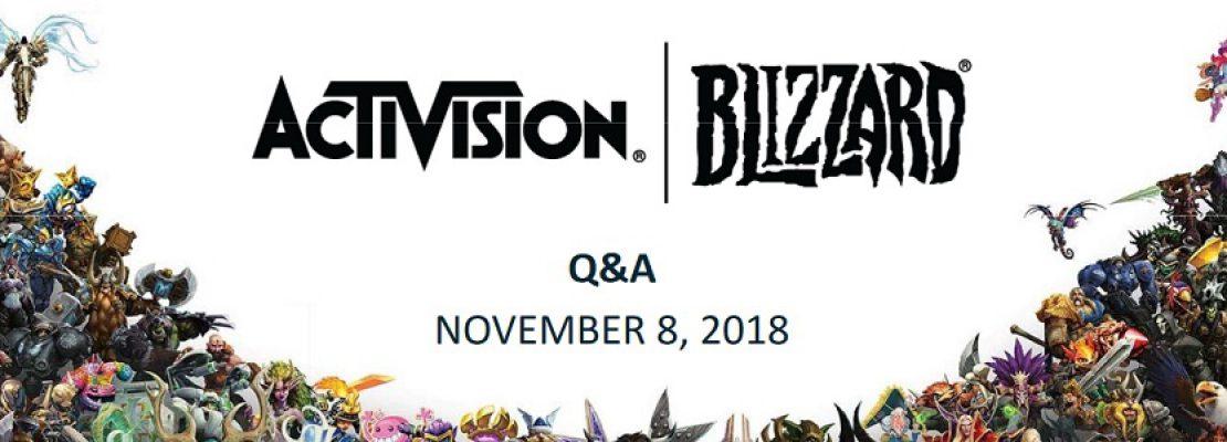 Blizzard: Der Earnings Call für das dritte Quartal 2018