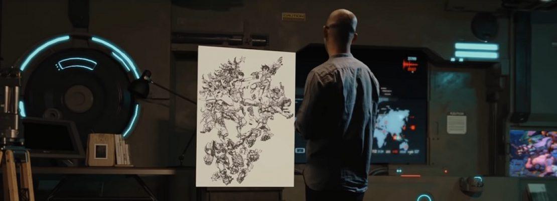Overwatch: Die Enstehung einer weihnachtlichen Zeichnung im Zeitraffer