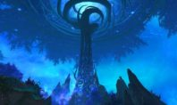 Shadowlands: Ein Spieler gleitet vom Ardenwald nach Oribos