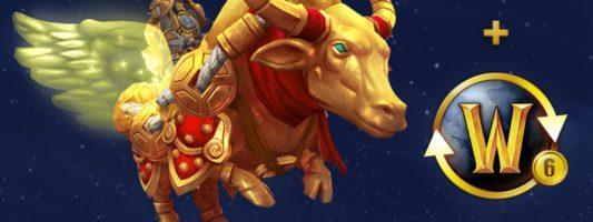 WoW: Ein goldener Yak für das Abschließen eines 6-monatigen Abonnements